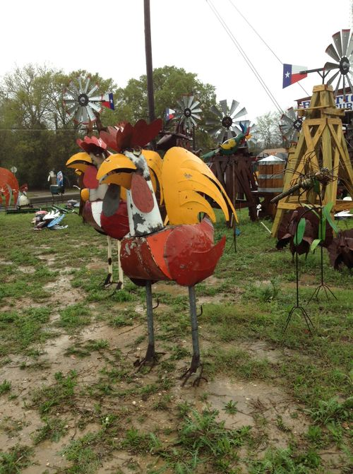 Giant welded chicken